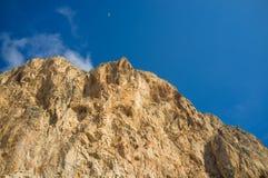 石灰石山肋前缘布朗卡 免版税图库摄影
