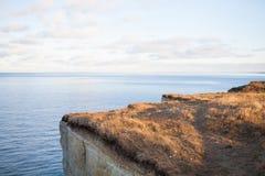 石灰石峭壁 免版税库存图片