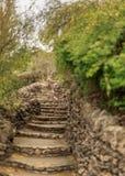 石灰石楼梯 图库摄影