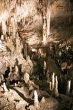 石灰石洞 免版税库存图片