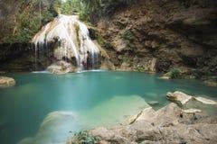 石灰石瀑布 图库摄影