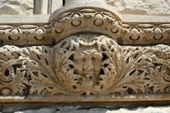 石灰石建筑学细节 库存图片