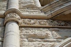石灰石建筑学细节 免版税库存照片