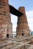 石灰窑在Kladno,捷克,全国文化纪念碑 库存照片