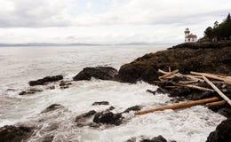 石灰窑点灯塔圣胡安海岛皮吉特湾华盛顿 免版税库存照片