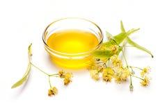 石灰花用蜂蜜 库存照片