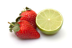 石灰草莓 库存照片
