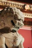 石狮子监护人,天安门,故宫 免版税库存照片