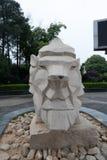 石狮子石头雕刻 免版税图库摄影