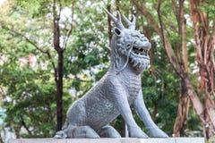 石狮子雕塑 免版税库存照片