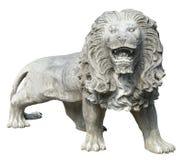 石狮子雕塑 库存照片
