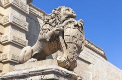 石狮子雕象 免版税库存照片