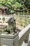 石狮子雕象 免版税图库摄影