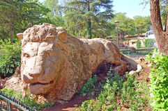 石狮子,伊夫兰,摩洛哥 免版税库存图片