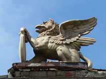石狮子,塔林 免版税库存图片