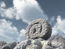 石电子邮件标志 免版税库存图片
