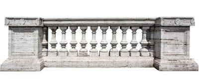 石白色栏杆的支 免版税库存照片