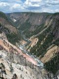 黄石的大峡谷 库存照片