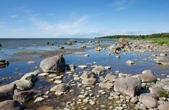石的海岸 库存图片