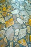 石的路径弄湿了 免版税库存照片
