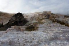 黄石盐小瀑布 库存照片