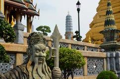 石监护人在曼谷 免版税库存照片