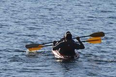 黄石盛大Tetons皮艇 库存图片