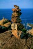 石石标, Nakalele点,毛伊,夏威夷 库存照片