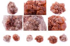石矿物Aragonite的汇集 库存照片