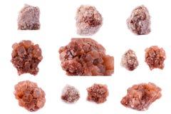 石矿物Aragonite的汇集 免版税库存图片