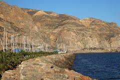 石码头在小游艇船坞 免版税库存图片