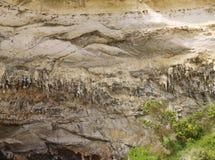 石笋和钟乳石在洞 免版税库存图片