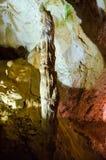 石笋 洞大理石 克里米亚 库存照片