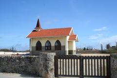 沙漠教会 库存图片