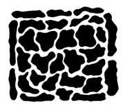 石纹理的剪影 库存照片