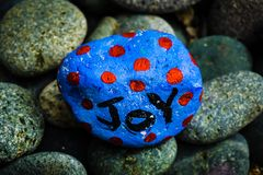 石绘画-对此写的喜悦 库存照片