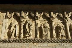 石罗马式传道者 库存照片