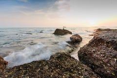 石美丽的清楚的海03 免版税库存照片