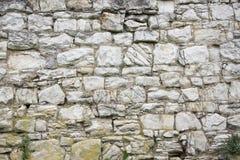 石老墙壁纹理 在老中世纪砖的岩石块 免版税图库摄影