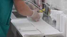 石膏的准备手术的 影视素材