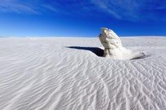 石膏石峰,白色铺沙国家历史文物 免版税库存图片