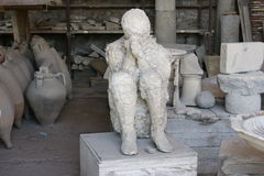 石膏Deadman在庞贝城 免版税库存图片
