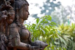 石艺术在印度 库存图片