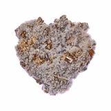 石英、硫铁矿和方解石 图库摄影