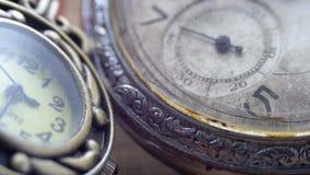 石英和机械时钟 影视素材