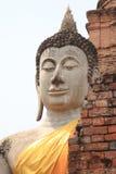 石菩萨, Ayuddhaya,泰国 免版税库存图片