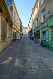 石街道在Frome镇的中心 免版税库存照片