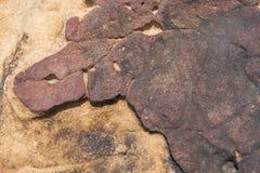 石表面、石地板、粗砺的石头和背景 免版税图库摄影