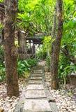 石路到庭院里 免版税图库摄影