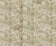 石路面纹理 背景铺有鹅卵石的花岗岩路面 老鹅卵石路面特写镜头抽象背景  Seamle 免版税库存照片